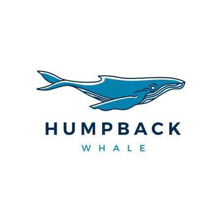humpback whale logo vector icon illustration