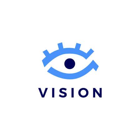 eye vision logo vector icon illustration Ilustração