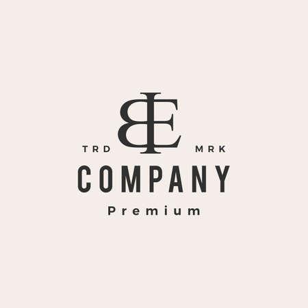 be letter mark monogram hipster vintage logo vector icon illustration