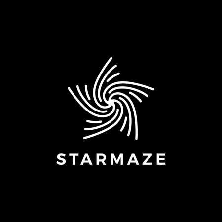 star maze logo vector icon illustration