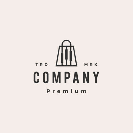 trading store candlestick shop hipster vintage logo vector icon illustration Ilustração