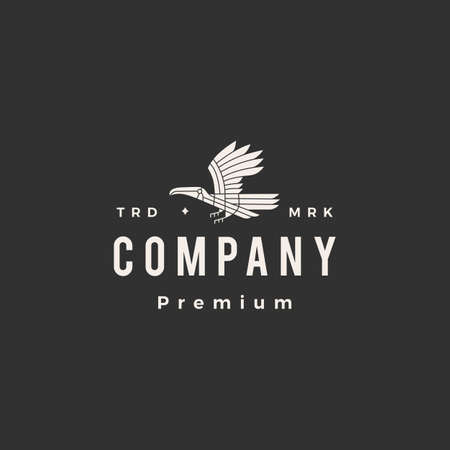toucan hipster vintage logo vector icon illustration