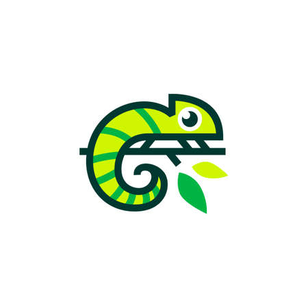 chameleon logo vector icon illustration Ilustração