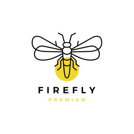 firefly outline logo vector icon illustration
