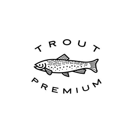 trout fish logo vector icon illustration Ilustração