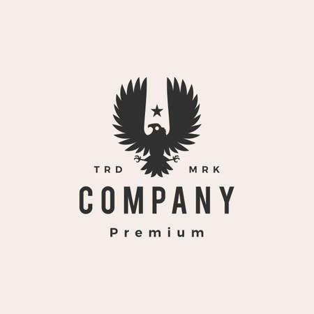 condor bird hipster vintage logo vector icon illustration Ilustração