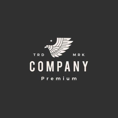 bird of prey hipster vintage logo vector icon illustration Ilustração