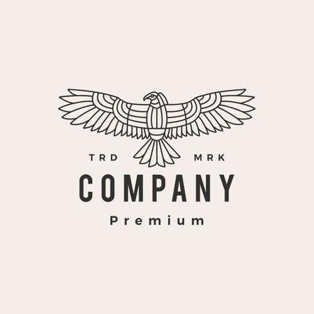 condor bird hipster vintage logo vector icon illustration