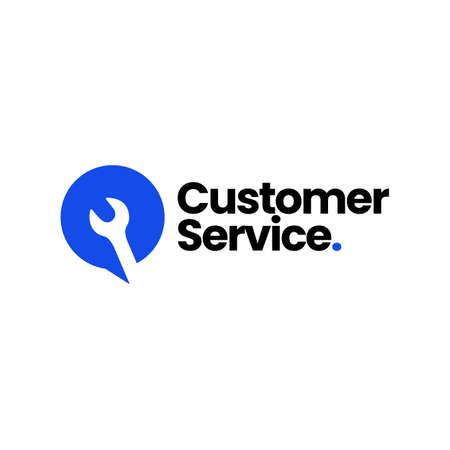 service talk wrench chat bubble customer call automotive logo vector icon illustration 向量圖像
