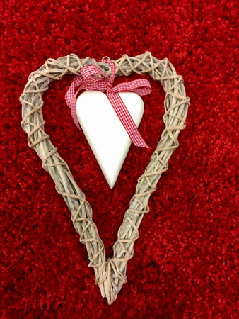 Heart on a red carpet Stock Photo