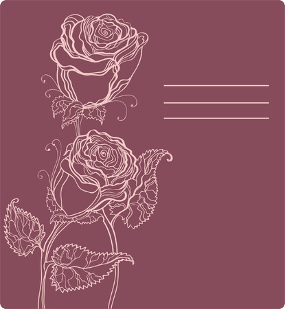 Beautiful roses with place for text Vector