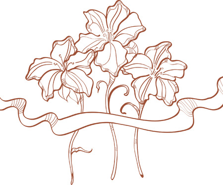 Beautiful floral decoration Vector