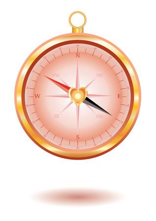 Love compass. Vector