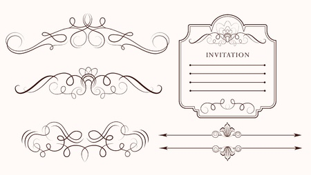 vector set: calligraphic design elements and page decoration Stock Vector - 9155786