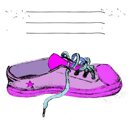 background with sneakers, gym-shoes and place for text