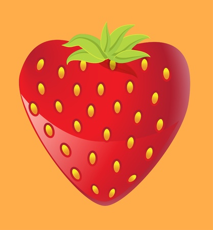 Strawberry heart, Valentine Vector