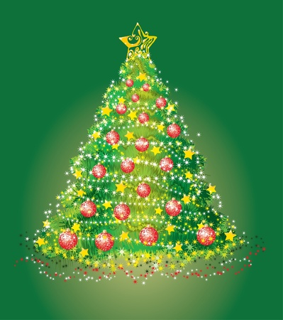 furtree: Beautiful background with a christmas fur-tree