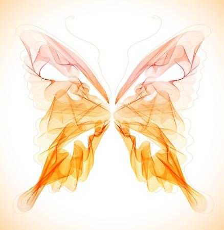 Glatte abstrakten Schmetterling über Licht