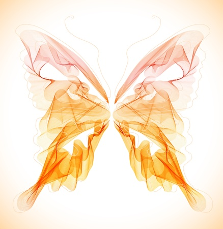 Mariposa, suave abstracta sobre la luz