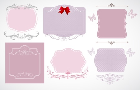 Beautiful labels for your design Vector
