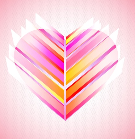 Pink and red modern abstract heart, Valentine background Stock Vector - 11830992