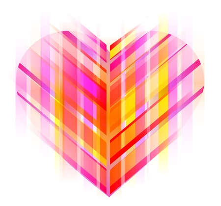 Pink and red abstract heart, Valentine background Stock Vector - 11830985