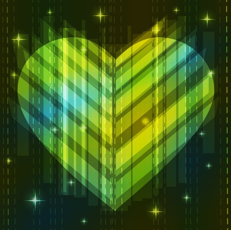 Green abstract heart, Valentine background Stock Vector - 11830966