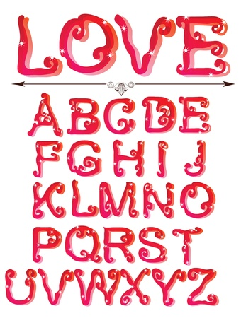 Cute red alphabet, ABC Stock Vector - 11830979