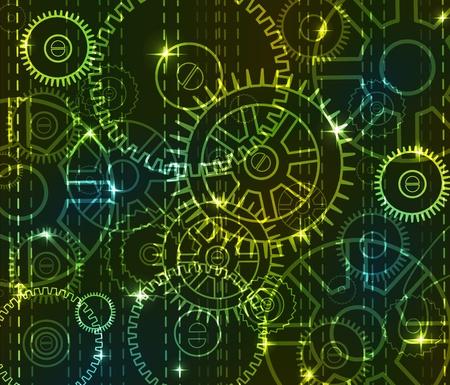 Mechanical black digital background Stock Vector - 11830990