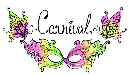carnival costume: Carnival Mask. Colorful illustration.
