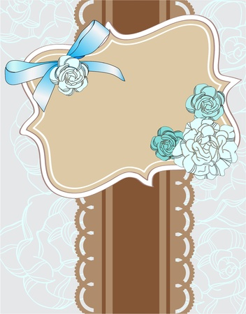 scrapbook card for holiday with place for text Vector