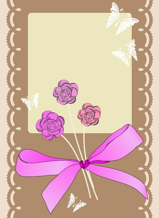 scrapbook card for holiday Vector