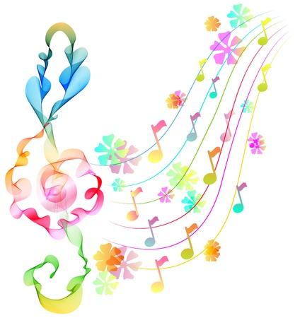 歌: 抽象的なバック グラウンド ミュージック  イラスト・ベクター素材