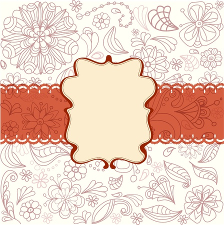 Beautiful card with flowers, illustration Vector