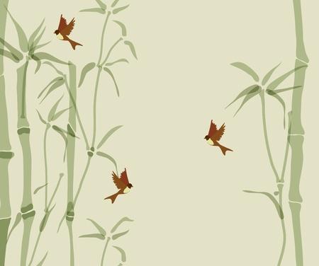 golondrina: Tarjeta con el bamb� y las golondrinas, hermosa ilustraci�n