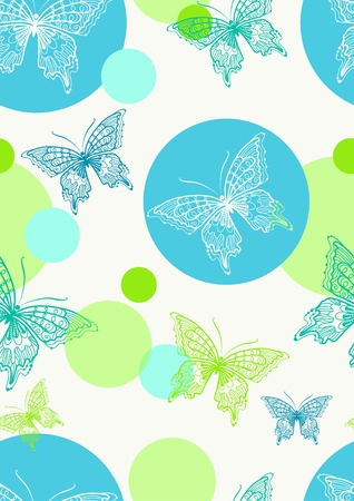 seamless pattern with colorful butterfly, beautiful illustration Vector
