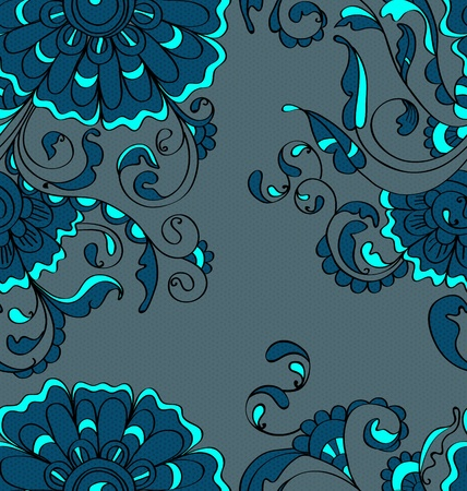 modern garden: Abstract hand-drawing background, Seamless pattern with flowers can be used for wallpaper, pattern fills, web page background, surface textures Illustration
