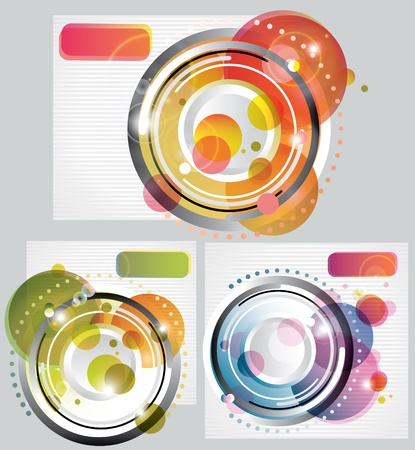 Set of modern Abstract Backgrounds, illustration Vector