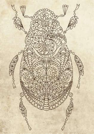 Retro bug, illustration Vector