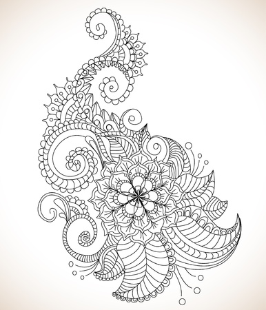 Beautiful floral pattern, illustration Vector