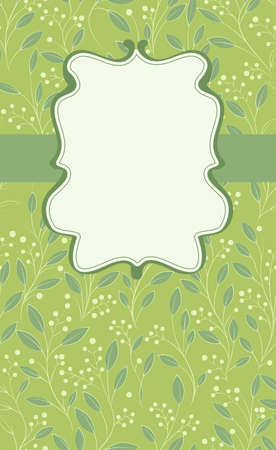 place card: card with beautiful floral pattern and place for text, illustration