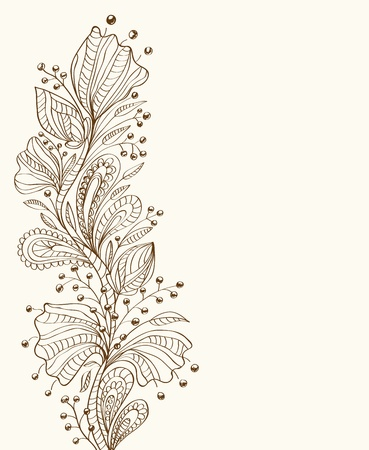 nature pattern: Stylish floral background, hand drawn flowers, illustration