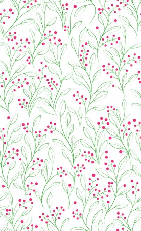 Abstract hand-drawing Seamless floral pattern, can be used for wallpaper, pattern fills, web page background, surface textures, illustration