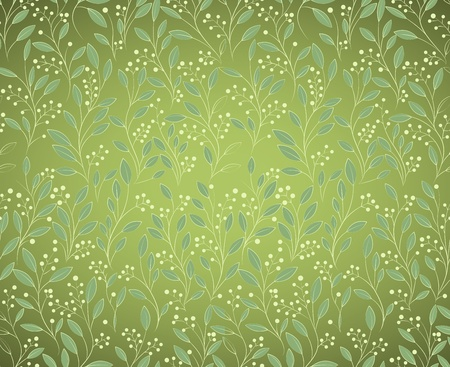 Hand-drawing Seamless floral pattern, can be used for wallpaper, pattern fills, web page background, surface textures, illustration Illustration
