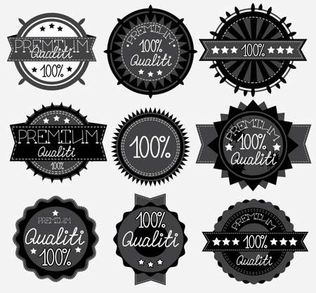 dark High Quality Labels Collection, illustration Vector