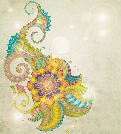 Beautiful colorful floral pattern,illustration