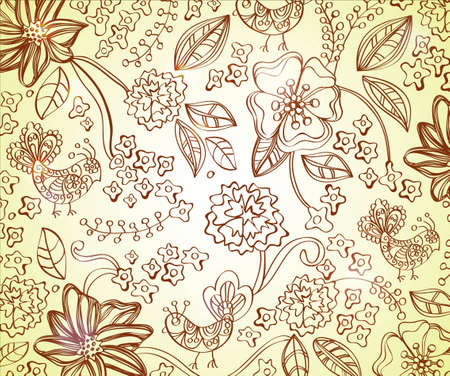 Beautiful floral background, illustration Stock Vector - 12496213