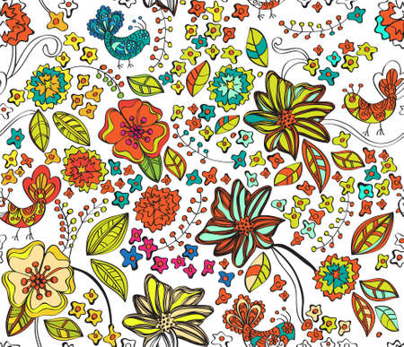 Colorful natural seamless background, illustration Stock Vector - 12496214