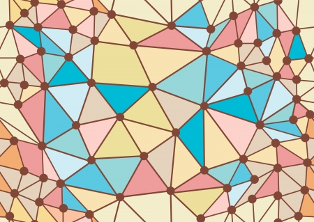 geometrical colorful doodle seamless pattern, illustration Vector