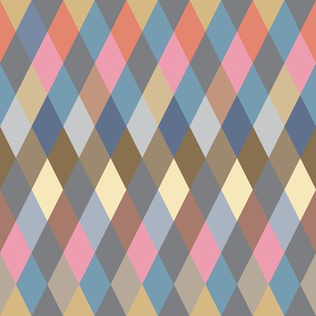Colorful Rhombus. Seamless pattern, background illustration